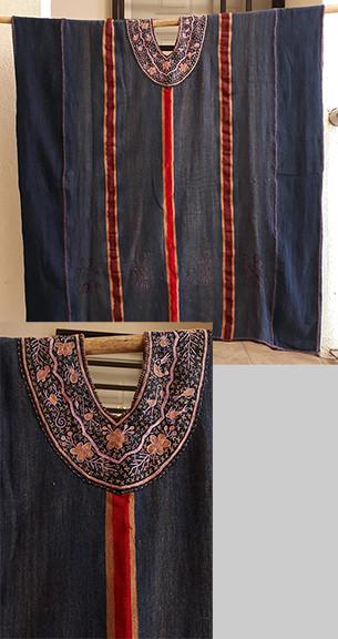 Indigo Huipil with Embroidered Neck $6,000 pesos plus shipping (mas envio)