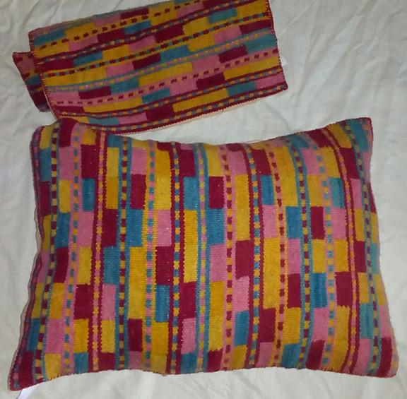 Wool Pillow Cover Natural-Dyes $2,500 pesos plus shipping (mas envio)