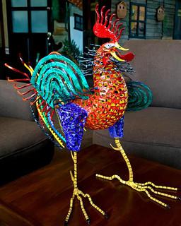 Metal alebrije rooster $9,500 pesos plus shipping (mas envio)