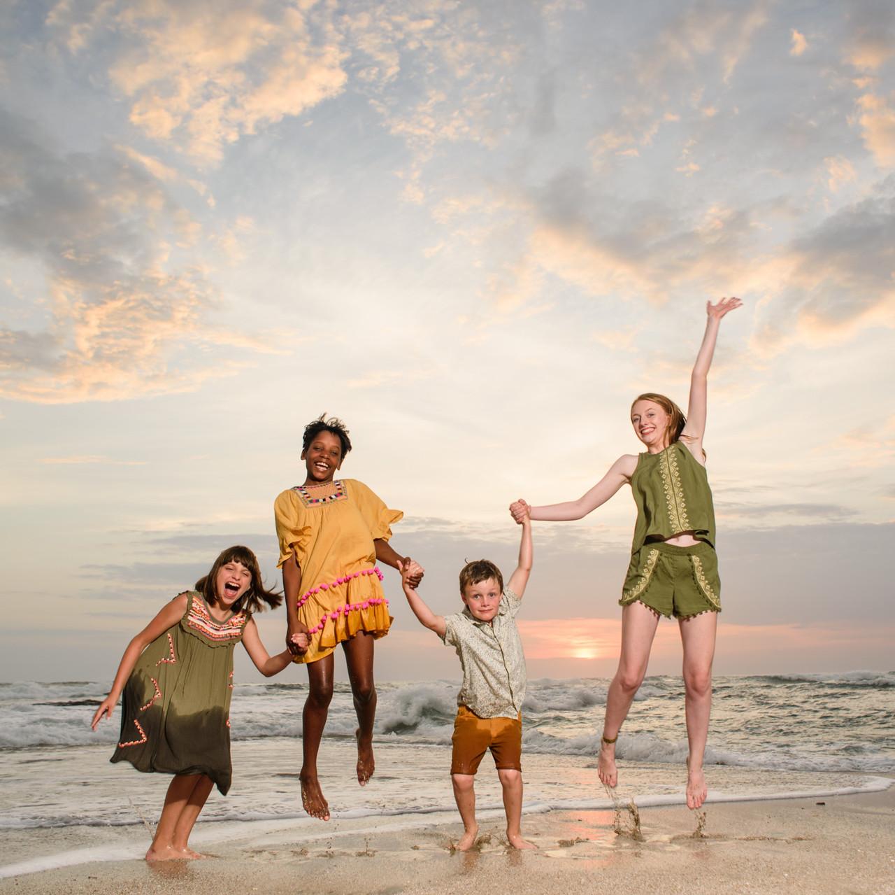 Jumping for joy at Cala Luna Playa Langosta