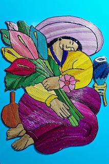 Framed Popotillo Woman $480 pesos plus shipping / mas envio
