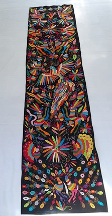 Otomi embroidered table runner $3,500 pesos plus shipping (mas envio)