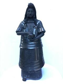 Barro Negro Figure: Costume from the Region of Huautla de Jiménez Oaxaca $8,000 pesos plus shipping (mas envio)