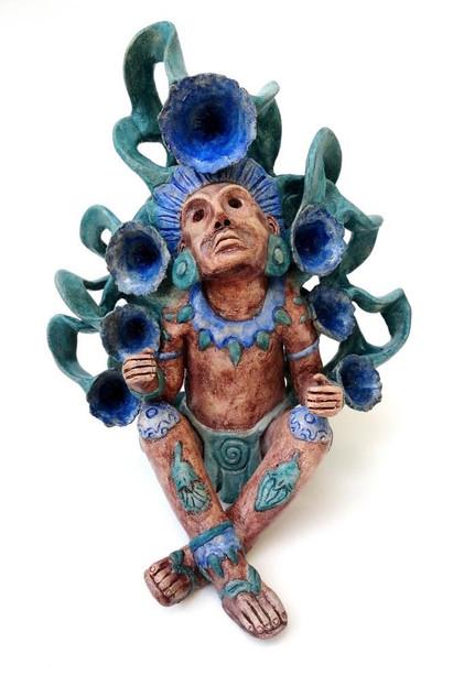 "Artist: Fernando Peguero — ""Xochipilli"" $12,000 pesos plus shipping (mas envio)"