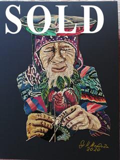 SOLD-Popotillo Tejedor de Vidas $2,800 plus shipping (mas envio)