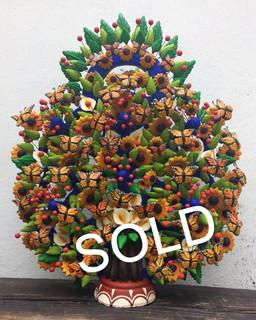 SOLD-Monarch Butterfly Tree of Life by Tiburcio & Israel Soteno $8,000 pesos plus shipping (mas envio)