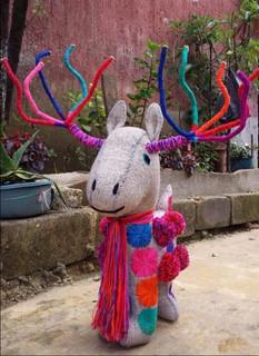 Handmade wool reindeer $2,000 pesos plus shipping (mas envio)
