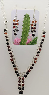 Red amber necklace on a silver chain $950 pesos plus shipping (mas envio)