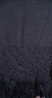 Hand-woven Black Rebozo $1850 pesos plus shipping (mas envio)