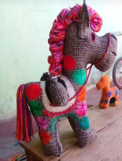 Handmade Wool Burro: Large $2,500, Medium $2000, Small $300 plus shipping (mas envio)