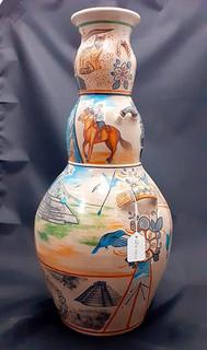 Side 1: 3-Sided Barro Bruñido Pot $4,500 pesos plus shipping (mas envio)