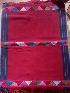 Burgundy Hand-woven Placemats $250 each/cu plus shipping (mas envio)