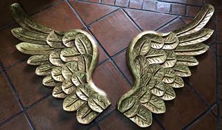 Carved Gold-Leaf Wood Wings $3,800 pesos/pair (par) plus shipping (mas envio)