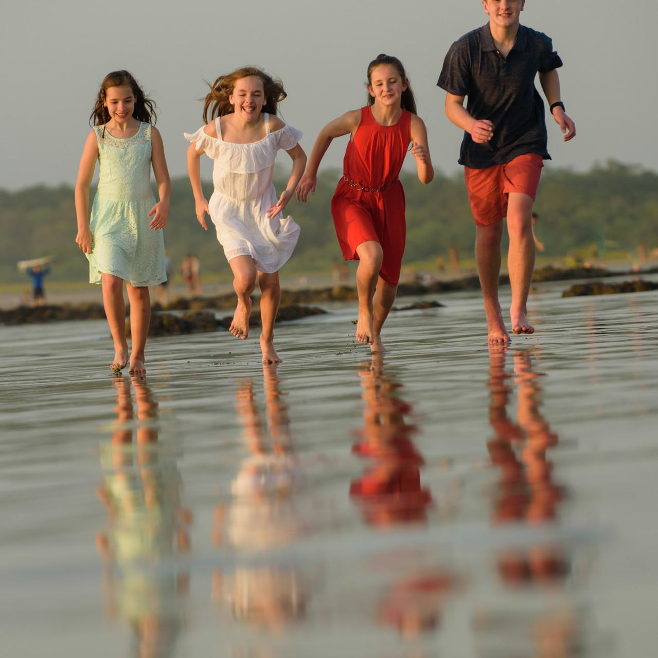 Racing across the sand at Tamarindo Diria