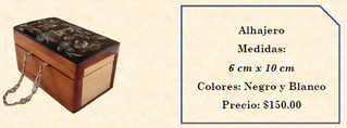 Wood inlaid w/abalone jewelry box $150 pesos plus shipping)