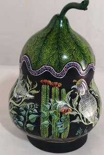 Hand-painted Gourd Jewelry Container $4750 pesos plus shipping (mas envio)