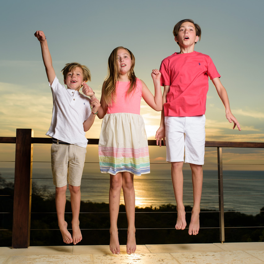 Jumping for joy at El Tesoro in Tamarindo