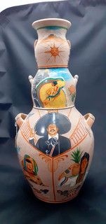 Side 3: 3-Sided Barro Bruñido Pot $4,500 pesos plus shipping (mas envio)