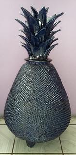 Hilario Alejos Madrigal: Hand-crafted ceramic cobalt blue piña $6,000 pesos plus shipping (mas envio)