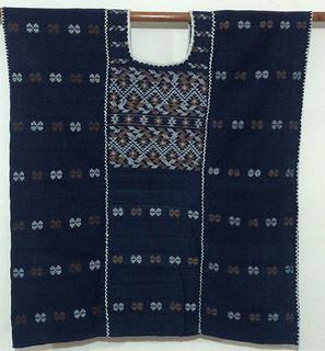 3800 34 detrás lienzos teñido con añil y mezcla de algodón blanco y teñido con casacara de