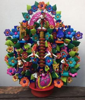 Mexican Dances Tree of Life by Tiburcio Soteno & Israel Soteno $8,000 pesos plus shipping (mas envio)