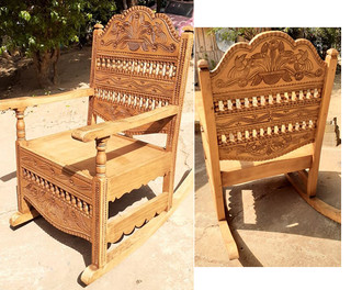 Hand-carved wood chair: Rustic $6500; Natural $5200, Varnished $7800 pesos plus shipping (mas envio)