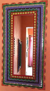 Hand carved & designed mirror $5000 pesos plus shipping (mas envio)