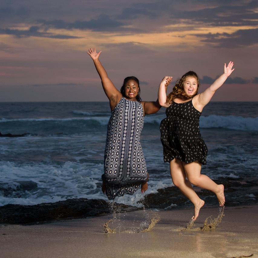 Jumping for joy at Langosta Beach
