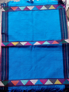 Turquoise Hand-woven Placemats $250 each/cu plus shipping (mas envio)