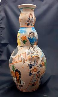 Side 2: 3-Sided Barro Bruñido Pot $4,500 pesos plus shipping (mas envio)
