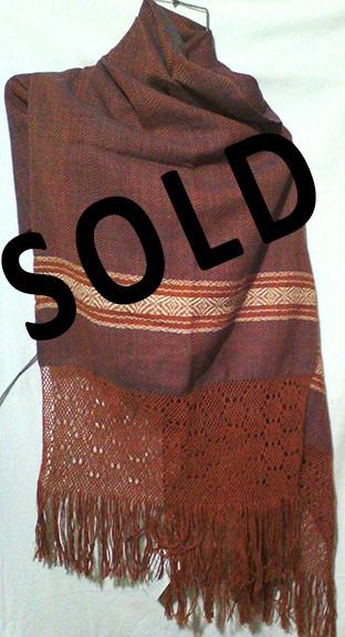 SOLD--Cotton Rebozo $1,000 pesos plus shipping (mas envio)