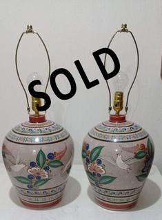 SOLD--Juego de 2 Lamparas $18,500 pair/par plus shipping (mas envio)