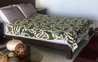 Otomi Hand-embroidered Full-size bedspread $6,900 pesos plus shipping/mas envio