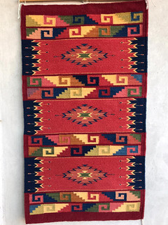 Hand-woven Natural Dye rug $4,000 pesos plus shipping (mas envio)