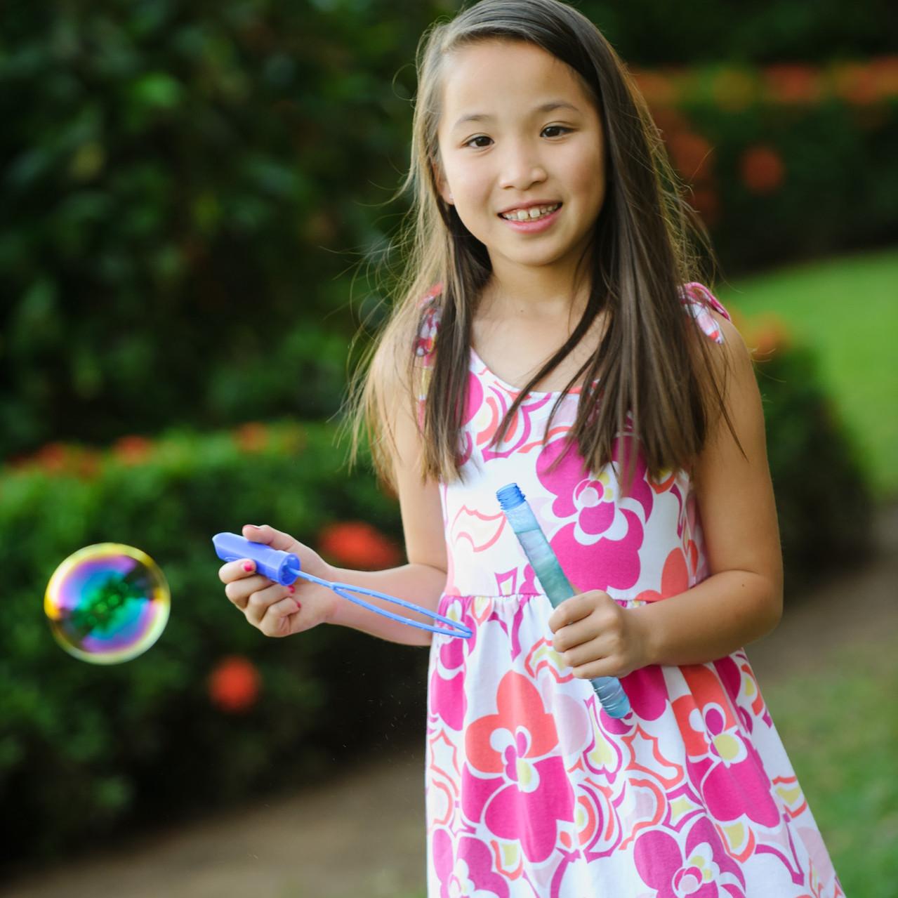 Fun with bubbles at Hacienda Pinilla