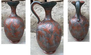 Vase in Barro Esgrafiado $5,500 pesos plus shipping (mas envio)