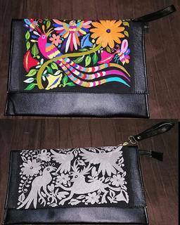 Otomi Leather Hand-embroidered Laptop Cases $1850 pesos plus shipping (mas envio)