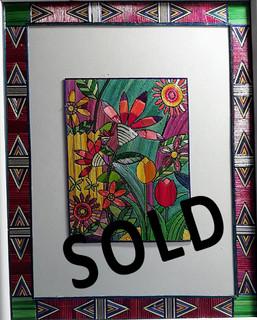 SOLD--Spring Flowers Popotillo $950 pesos plus shipping (mas envio)