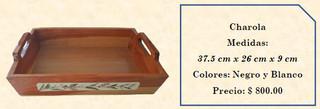 Wood inlaid w/abalone tray $800 pesos plus shipping (mas envio)