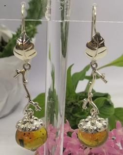 Amber earrings set in 925 sterling silver $1,250 pesos  plus shipping (mas envio)