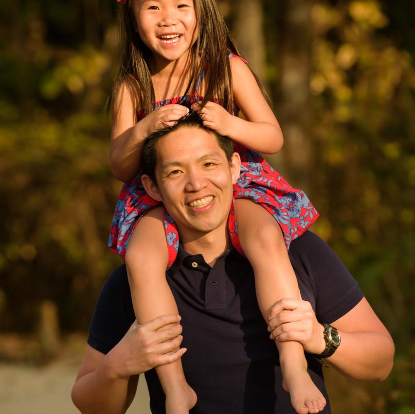 Father and daughter at Playa Langosta