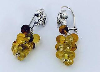 Amber earrings $1,500 pesos plus shipping (mas envio)