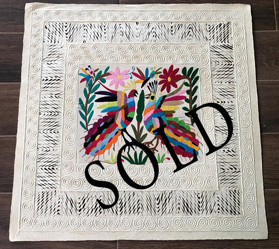 SOLD--Amate with Otomi Embroidery $1,000 pesos plus shipping (mas envio)