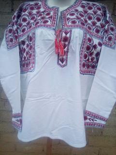 Medium Embroidered Shirt $800 pesos plus shipping /mas envio
