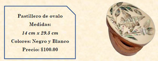 Wood inlaid w/abalone pill holder $100 pesos plus shipping (mas envio)