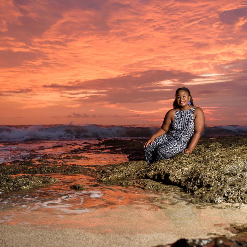 Sunset vibes at Langosta Beach