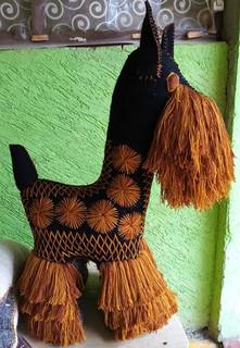 Handmade Wool Schnauzer: Large $2,500, Medium $2,000, Small $300 plus shipping (mas envio)