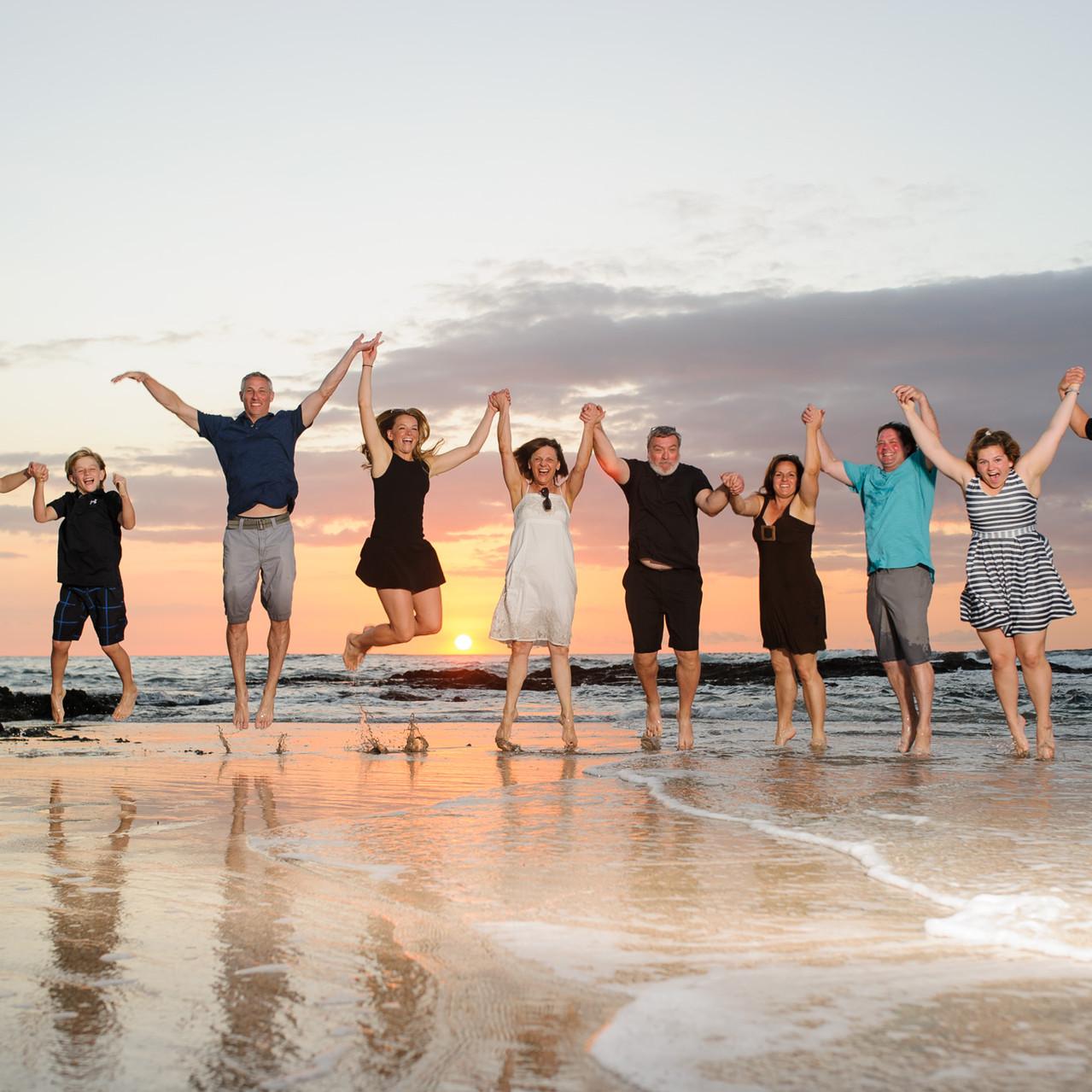 Family reunion photo shoot at Crystal Sands Playa Langosta