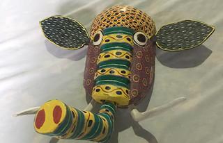 Hand-carved wood mask $700 pesos plus shipping (mas envio)
