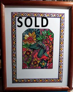 SOLD--Spring Landscape Popotillo $950 pesos plus shipping (mas envio)